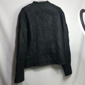 Men's Ed Hardy vintage Studded leather jacket